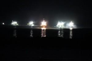 柴山港にて